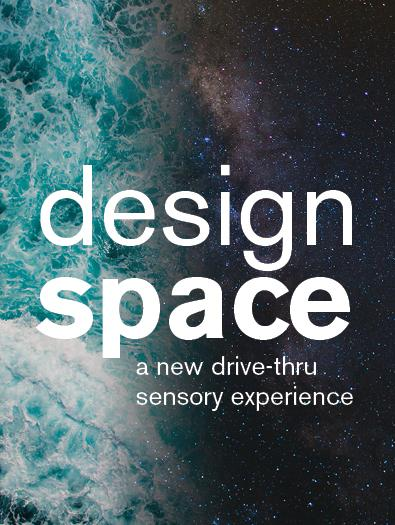 """White text reading """"designspace"""" over a space-themed background"""