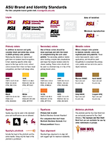asu brand and identity standards quick reference guide