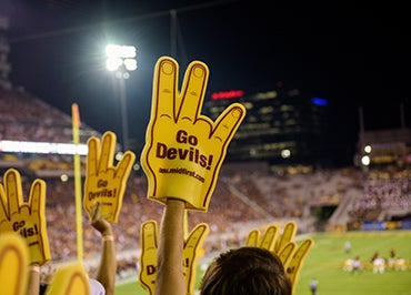 Image result for foam hand pictures at a college game