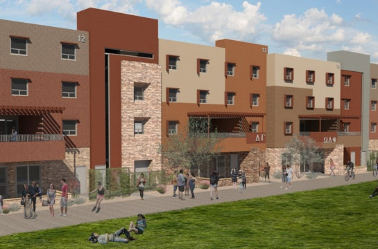 950-bed housing complex