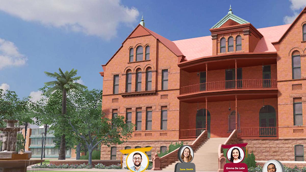 Digital rendering of Old Main on ASU Tempe campus