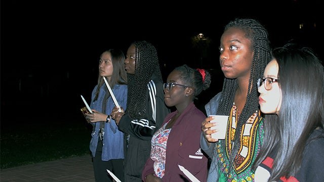 2019 ASU Black History Month vigil at Old Main