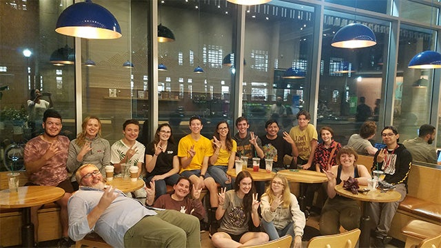 A recent coffee and signing meetup on ASU's Tempe campus