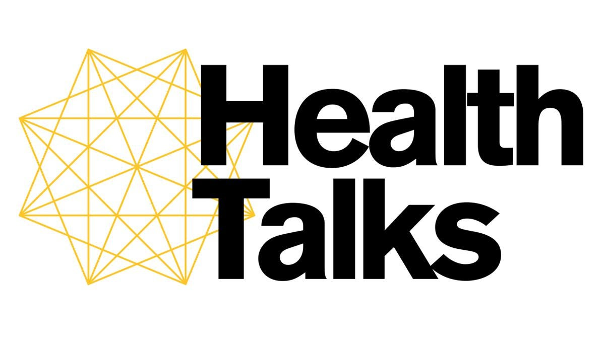 """Black text reading """"Health Talks"""" against a white background"""