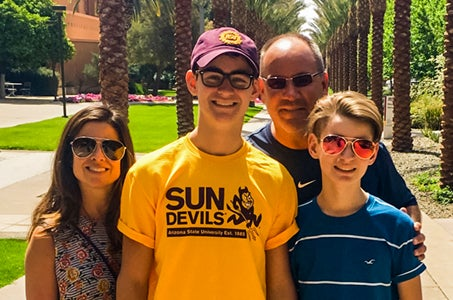 a sun devil family picture