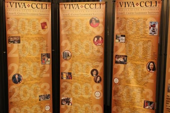 A photo of the Viva CCLI banners