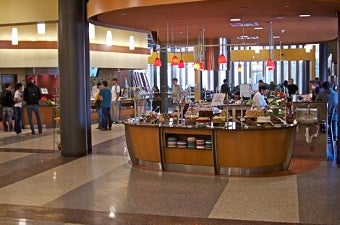 Photo of on campus dining hall area