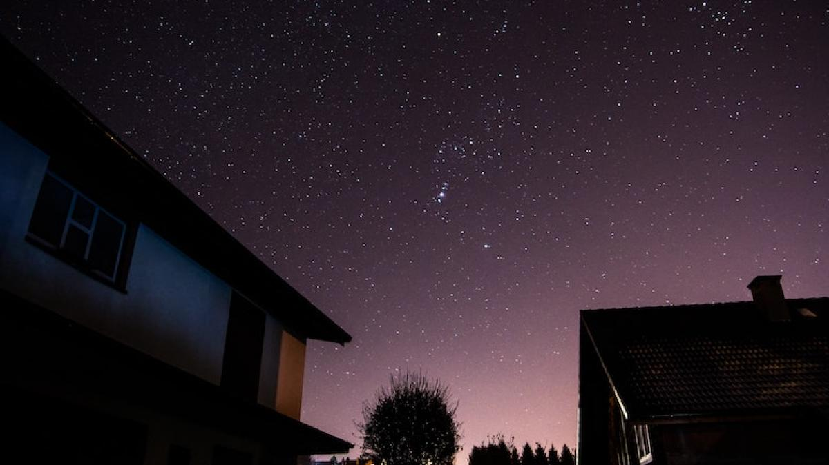 night sky starry view from the earth