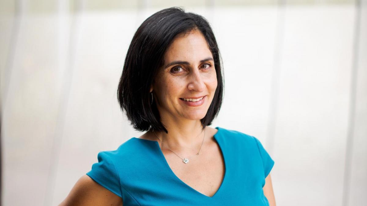 "Headshot of Pardis Mahdavi, author of ""Hyphen"""